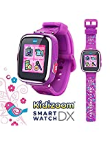 V Tech Kidizoom Smartwatch Dx Special Edition Floral Swirl With Bonus Vivid Violet Wristband