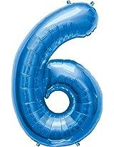 """6 blue Supershape 23"""""""