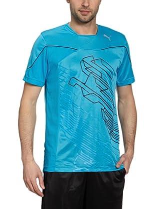 Puma T-Shirt Training Graphic 2 (blue danube)