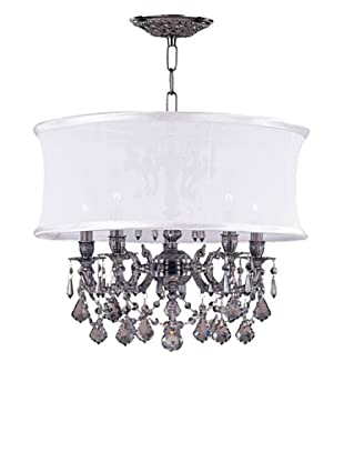 Gold Coast Lighting Ornate Casted Pewter Chandelier with Shade