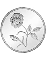 Ananth Jewels BIS HALLMARKED 999 Purity Silver Coin Plain Rose 10 grams