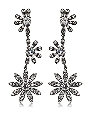CZ by Kenneth Jay Lane Cascading Daisies CZ Post Earrings