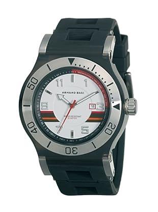 ARMAND BASI A0681G05 - Reloj de Caballero movimiento de cuarzo con correa de caucho Negra