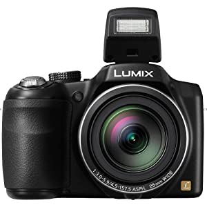 Panasonic Lumix DMC-LZ30 with 16.1MP Point-and-Shoot Camera (Black) with 35x Optical zoom, 4GB Card and Carry Case