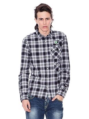 Gio Goi Camisa Square (gris / negro)