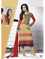 Amisha Patel in New Arrival red and cream Salwar suit