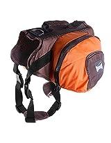 Imported Dog Foldable Backpack Waterproof Portable Travel Outdoor Bag Pack Orange XL