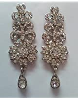 All Time Jewels Silver Stone Long Earrings - ER014
