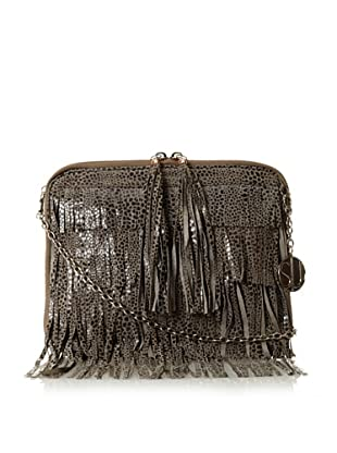 Stella & Jamie  Women's Sas Fringed Clutch, Snake Grey