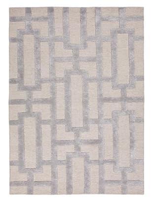 Jaipur Rugs Hand-Tufted Geometric Rug, Ivory/Gray, 5' x 8'