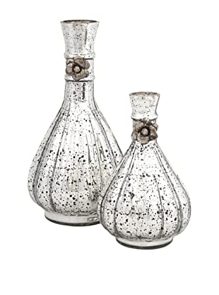 Set of 2 Gabrielle Glass Bottles
