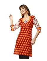 Karishma Suits Women Cotton Dress Material (Kdtkpg09 _Red-Yellow)