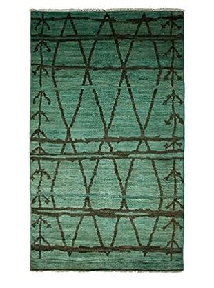 Darya Rugs Moroccan Oriental Rug, Light Blue, 5' x 8' 6