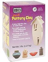 AMACO Moist Pottery Clay, 5-Pound, Grey
