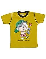 Gingle 100% Cotton Boys Mehndi Half-Sleeve Tshirt