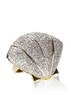 nOir Pavé Seashell Ring