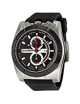 Haurex Italy Chronograph Black Rubber Men'S Watch - Hau3D362Ucr