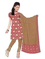 Kala Sanskruti Women's Cotton Silk Blend Carrot Colored Dress Material
