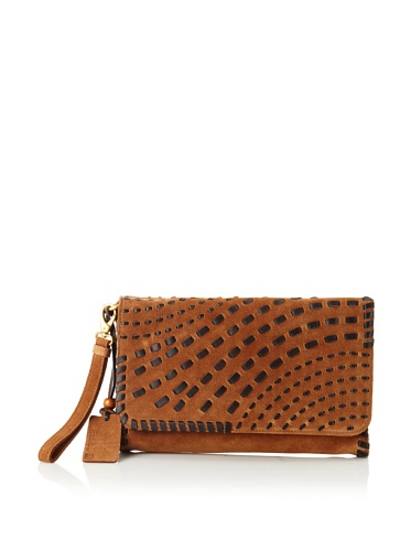 Linea Pelle Women's Willow Native Weave Clutch (Whiskey)