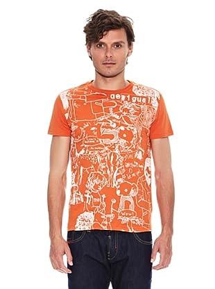 Desigual Camiseta Vinz Rep (Naranja)