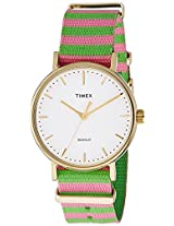 Timex Weekender Fairfield Analog White Dial Women's Watch - TW2P91800AA