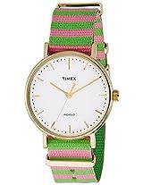 Timex Weekender Fairfield Analog White Dial Women's Watch - TW2P91800AA