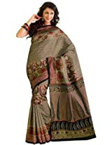 Orbymart Exclusive Designer Raw Silk Multi Colour Printed Saree - 55252566