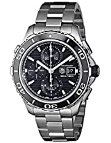 TAG Heuer Men's CAK2110.BA0833 Aqua Racer 500 Analog Display Swiss Automatic Silver Watch