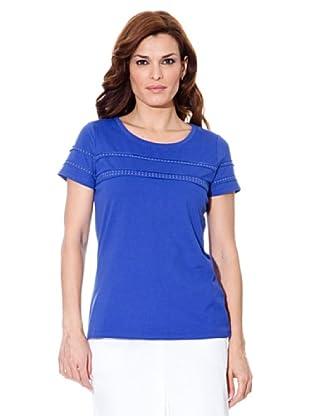 Cortefiel Camiseta Tachas (Azul)