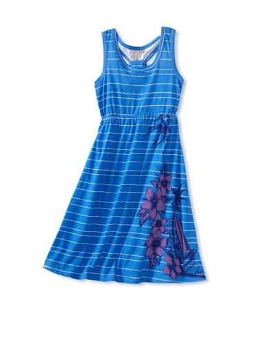 O'Neill Girl's 7-16 Sunflower Dress (Blue Stripe)