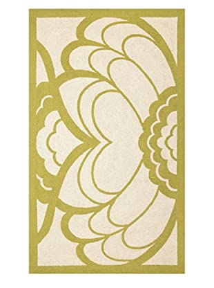Trina Turk Rugs Deco Floral Hook Rug (Citron)