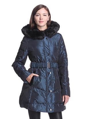 Laundry by Shelli Segal Women's Puffer Coat (Metallic Blue)