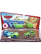 Disney / Pixar CARS 2 Movie Exclusive 155 Die Cast Car 2Pack Carla Veloso Carlas Crew Chief