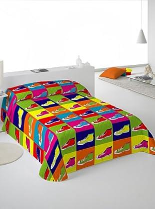Euromoda Lencería Colcha Bouti Zapatillas (Multicolor)