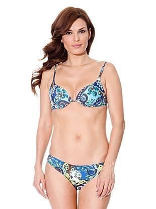 Cortefiel Bikini Print (Blau)