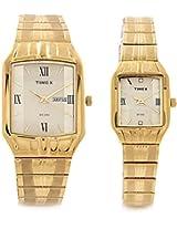 Timex Dresswear Analog Watch - For Couple Gold-PR133
