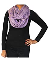 One Circle Scarves Solid Color Womens Cowl Scarf Winter Clothes (Lilac)