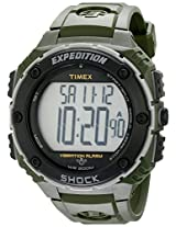 Timex T49951 Mens Expedition Shock Xl Vibrate Alarm Green Watch