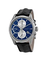 Hamilton Jazzmaster Automatic Chronograph Blue Dial Black Leather Men'S Watch - Hml-H32596741