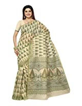 Triveni Blended Cotton Sarees (TSMRCCAN1002_Green)