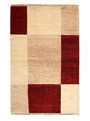 Darya Rugs Modern Oriental Rug, Crimson/Ivory, 3' 1