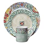 Corelle 16-Piece Impressions Dinner Water Color Set