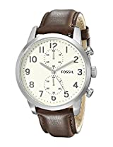 Fossil Analog White Dial Men's Watch - FS4872