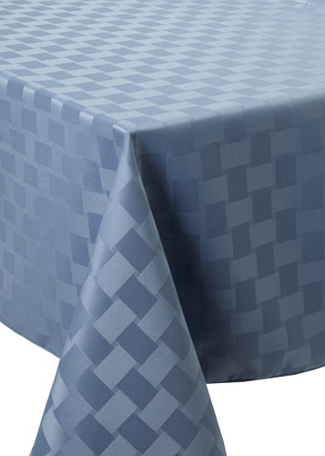Bardwil Reflections Oblong Tablecloth (Stone Blue)