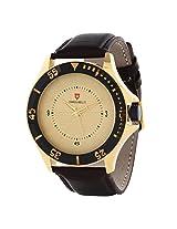 Svviss Bells Trendy Golden Dial Broad Watch