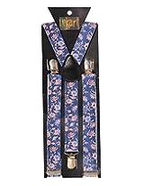 Tiekart Mens Y-Back Suspender (Sus224_Blue)