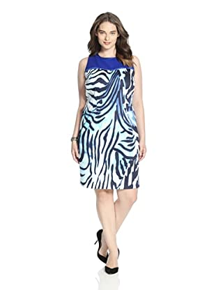 T Tahari Women's Shira Dress (Blue Cloud)