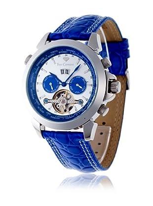 Yves Camani Reloj Worldtimer Automático Azul / Plata