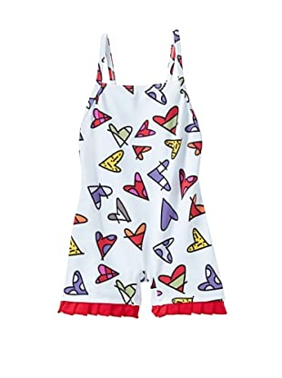 SUBMARINE by Romero Britto Baby 1-Piece Boy Short Hearts Swimsuit (Multi Hearts)