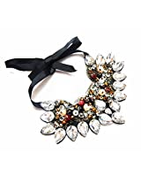 Daamak Precious Piece Of Necklace Studded With crystals and color beads for women